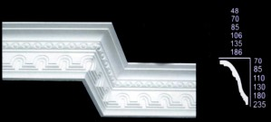 Small Tunnel and Egg Design Cornice