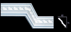 Egg and Dart With Small Medallion Design Cornice