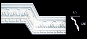 Water Leaf and Dentil Cornice