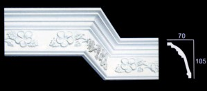 Floral and Leaf Cornice