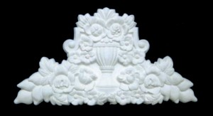 Floral Urn Over Mantel Decoration
