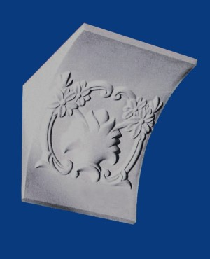 90 Degree Floral Corbel