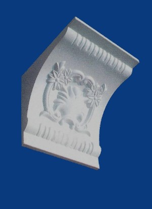 Floral and Fluted Corbel